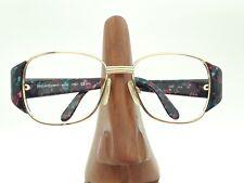 Vintage Yves Saint Laurent 6521 Y639 Gold Marbled Rectangle Sunglasses Frames