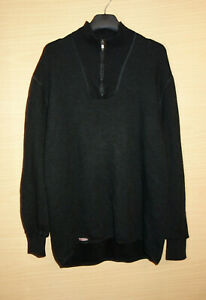 Woolpower Ullfrotte Merino Zip Neck Stretchy Thermo Sweater Mid Layer Size XL