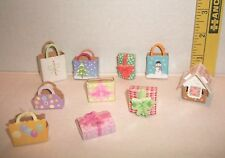 Barbie MATTEL BABY KELLY DOLL ACCESSORY LOT NEW 10 STOCKBOARD PRESENTS GIFT BAGS