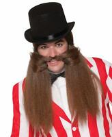 Carnival Master Moustache Beard Circus Fancy Dress Halloween Costume Accessory