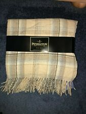 New 2009  Pendleton Home Collection Camel 54 x 72 100% Merino Wool Throw Blanket