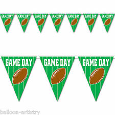 12ft American Football GAME DAY Party Green Pennant Banner Bunting Decoration