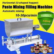 100-1000ml Horizontal Liquid Paste Filling Mixing Machine 10-30ps/min Big Hopper