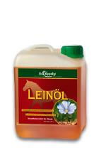 St. Hippolyt Leinöl 2,5 Liter - kaltgepresst, reines Leinöl für Pferde