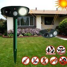 Outdoor Solar Ultrasonic Pest Animal Repeller Garden Dog Repellent Cat PIR