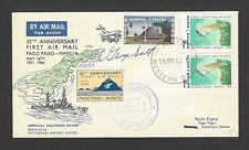 Western Samoa pilot signed 1966 First Flight cover to Pago Pago Samoa w label