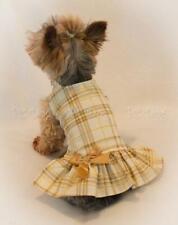 Golden Plaid Dog Dress Pet Clothing Apparel PC Dog®