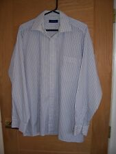"MENS PETER ENGLAND SIZE 16.5"" BLUE AND WHITE STRIPED SHIRT"