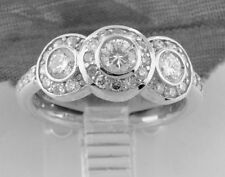 1.30 ct 14k Solid White Gold ladies Diamond Ring Anniversary  made in USA