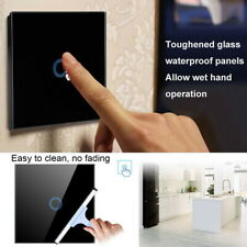 1/2/3 Gang LED Light Touch Switch Tempered Glass Panel Wall Screen Smart Hot !