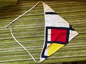 Vintage Mid Century Cloth Boat Pennant Flag Yacht Club Nautical Chris craft sail