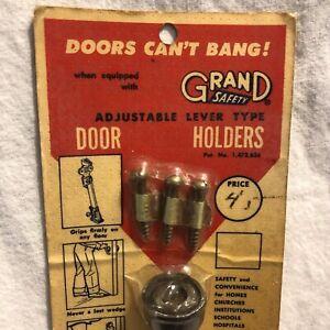 Vintage 1950s NOS Grand Safety DOOR HOLDER Adjustable Lever Type