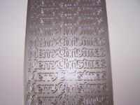 *2 Peel Offs - Silver Large Merry Christmas - Card Making