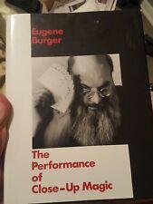 The Performance of Close Up Magic - Eugene Burger  book  magician