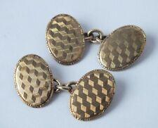 Pair of Art Deco 9 ct. Rose Gold Cufflinks 5.8 g.