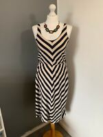 Women's Size 10 Atmosphere Long Summer Stripy Sleeveless Sheath Casual Dress