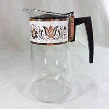 Vintage David Douglas Coffee Tea Carafe Pitcher Pot Gold White Floral Band