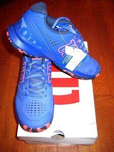 Wilson Womens KAOS Tennis Shoes - Amparo Blue/Surf the Web/Fiery Coral WRS322460