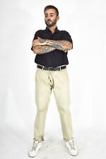 CALVIN KLEIN JEANS Pantaloni Beige In Cotone Taglia IT 52 - XL Uomo Man