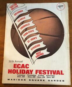 1967 16th Annual ECAC Holiday Festival Program Basketball