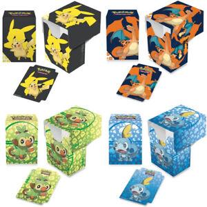 Ultra Pro - Pokemon - Deck Box - Choose Design - Holds 82 Pokemon Cards