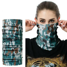 CAMO BANDANA FACE SHIELD MASK FISHING HEADWEAR BIKER NECK GAITOR TUBE SCARF