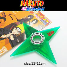 New Anime Naruto Uzumaki Finger Spinner Plastic Shuriken Cosplay Darts Toy Green