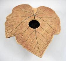 Malabar Pottery Leaf Shaped Vase with Flower Frog Insert Handmade Florida