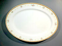 "NORITAKE Oval Serving Platter 16"" x 12"" Floral Pattern CHERRY BLOSSOM M STAMP"