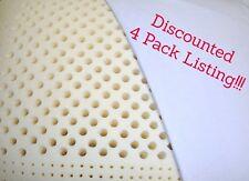 Confezione da 4 * * Dimensione Standard Profilo stabile Dunlop cuscini di schiuma di lattice-R.G. Products