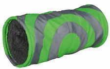Trixie Cushy Plush Play Tunnel 15 X 35 Cm Grey/ Green 6284