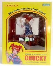 "In STOCK Kotobukiya ""Chucky"" Child's Play Bride of Chucky Horror Bishoujo Statue"