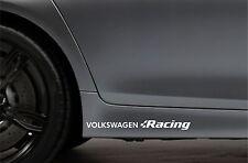 2x Side Skirt Stickers fits VW Volkswagen Racing Bodywork Car Decal VK107