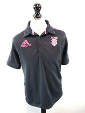 ADIDAS STADE FRANCAIS Mens Rugby Shirt 40/42 M Medium Grey Pink Polyester