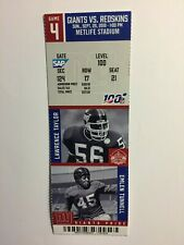 NEW YORK GIANTS VS WASHINGTON REDSKINS SEPTEMBER 29, 2019 TICKET STUB