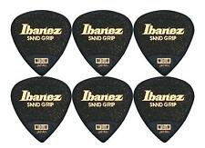 Ibanez Ppa16msg-bk Flat Pick 6 Pack - Sand Grip 0 8 Mm