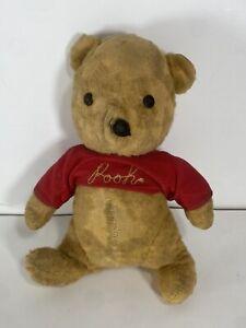 "Vintage VERY OLD Handmade Hand Stitched Winnie The Pooh Bear Teddy Plush 10"""