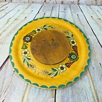 Vintage Wooden serving tray w/ lazy susan-Mildred Martin 1955 MCM