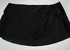 Womens Swimsuit Bottoms Skirt Black 1X 2X 3X Plus Size
