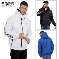 Crosshatch Mens Faymore Quilted Bubble Puffer Winter Hooded Outdoors Jacket Coat