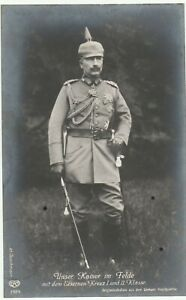 Portrait Kaiser Wilhelm der II. im Felde EK.1. und 2.KL.Volle Ordenspracht TOP