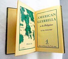 ** WWII AMERICAN GUERRILLA 1st EDITION 1945 SCHUSTER BK  **