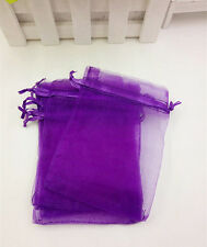 20pcs Organza Gift Bags Wedding Christmas Party Packaging Pouches gift (purple)