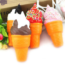 Soft White Cone   Super Slow Rising Scented Ice Cream Food Kid Toy Gift~GN