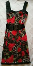 Star By Julien Macdonald Flowered Vintage Style Belted Dress, 12