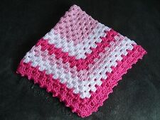 Handcrochetet Baby Blanket 24 x 24 inches