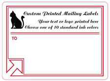 "Printed Mailing Labels, 5,000 Custom Shipping Box Stickers, 1 color, 4"" x 3"""