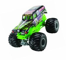 Hot Wheels Monster Jam Grave Digger Die-Cast Vehicle, 1:24 Scale, Black and G...