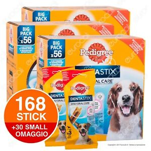 198 Pedigree Dentastix Medium Igiene Orale del Cane - 3x56 + 30 Small OMAGGIO