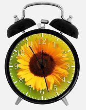 "Sun Flowers Alarm Desk Clock 3.75"" Home or Office Decor W145 Nice For Gift"